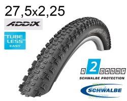 Покрышка 27.5x2.25 650B (57-584) Schwalbe RACING RALPH Performance TL-Ready Folding B/B HS425 Addix, 67EPI EK
