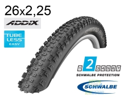 Покрышка 26x2.25 (57-559) Schwalbe RACING RALPH Performance,TL-Ready, Folding B/B HS425 Addix 67EPI EK