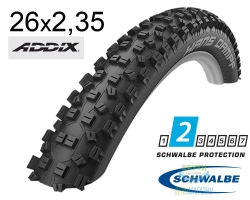 Покрышка 26x2.35 (60-559) Schwalbe HANS DAMPF Performance TL-Ready Folding B/B HS426 Addix, 67EPI EK