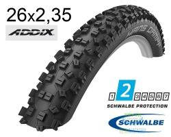 Покрышка 26x2.35 (60-559) Schwalbe HANS DAMPF Performance,TL-Ready, Folding B/B HS426 Addix 67EPI EK