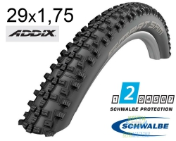 Покрышка 29x1.75 (47-622) Schwalbe SMART SAM Performance B/B-SK HS476 Addix 67EPI