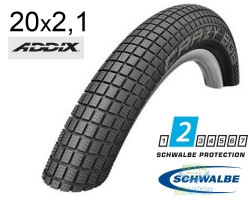 Покрышка 20x2.10 (54-406) Schwalbe CRAZY BOB Performance B/B HS356 Addix 67EPI