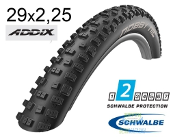 Покрышка 29x2.25 (57-622) Schwalbe NOBBY NIC Performance B/B-SK HS463 Addix, 67EPI