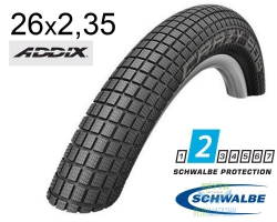 Покрышка 26x2.35 (60-559) Schwalbe CRAZY BOB Performance B/B HS356 Addix 67EPI 41B