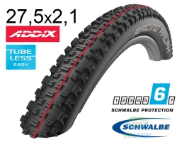 Покрышка 27.5x2.10 650B (54-584) Schwalbe RACING RALPH SnakeSkin TL-Easy Evolutoin Folding B/B-SK HS425 Addix Speed, 67EPI EK