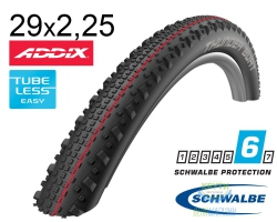 Покрышка 29x2.25 (57-622) Schwalbe THUNDER BURT SnakeSkin TL-Easy Evolutoin Folding B/B-SK HS451 Addix Speed, 67EPI EK