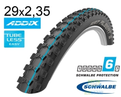 Покрышка 29x2.35 Schwalbe (60-622) FAT ALBERT REAR SnakeSkin, TL-Easy, Evolutoin Folding B/B-SK HS478 Addix Spgrip 67EPI EK