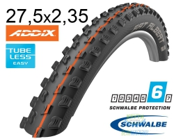 Покрышка 27.5x2.35 650B (60-584) Schwalbe FAT ALBERT FRONT SnakeSkin TL-Easy Evolutoin Folding B/B-SK HS477 Addix Soft, 67EPI EK