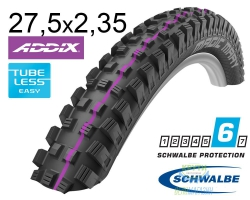 Покрышка 27.5x2.35 650B (60-584) Schwalbe MAGIC MARY SuperG, TL-Easy, Evolutoin Folding B/B-SK HS447 Addix U-Soft 67EPI EK