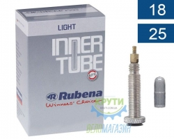 Камера 700 x18-25C (18/25x622/635) FV 60мм Mitas (RUBENA) Light A02LH LHC 0.6mm в коробке