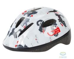 Шлем детский Green Cycle Kitty размер 48-52см белый