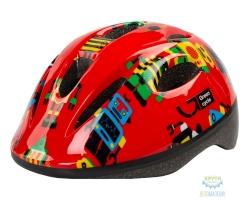 Шлем детский Green Cycle Robots размер 48-52см красный