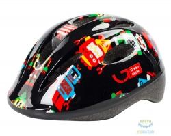 Шлем детский Green Cycle Robots размер 48-52см черный