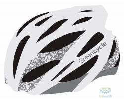 Шлем Green Cycle New Alleycat размер 54-58см для города/шоссе бело-серый матовый