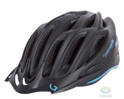 Шлем Green Cycle New Rock размер 54-58см черно-голубой матовый