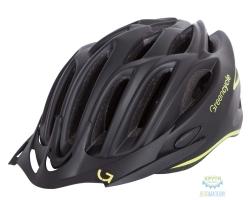 Шлем Green Cycle New Rock размер 54-58см черно-желтый матовый