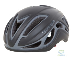 Шлем Green Cycle Jet размер L для шоссе/триатлона и гонок с раздельным стартом черно-серый матовый