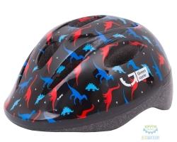 Шлем детский Green Cycle Dino размер 48-52см черный/красный/синий лак