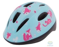 Шлем детский Green Cycle Foxy размер 48-52см мятный/малиновый/розовый лак