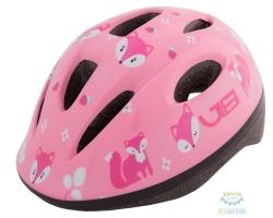 Шлем детский Green Cycle Foxy размер 48-52см розовый/малиновый/белый лак