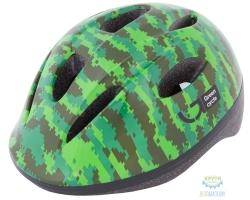 Шлем детский Green Cycle Pixel размер 50-54см хаки/зелёный/салатовый лак