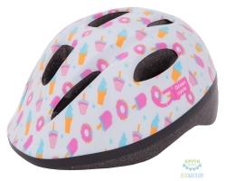 Шлем детский Green Cycle Sweet размер 48-52см белый/розовый лак