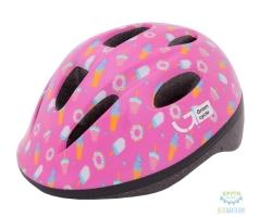 Шлем детский Green Cycle Sweet размер 48-52см малиновый/розовый лак