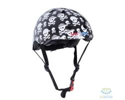 Шлем детский Kiddimoto Skullz, размер S 48-53см
