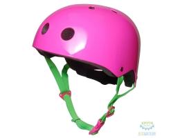 Шлем детский Kiddimoto неоновый розовый, размер M 53-58см