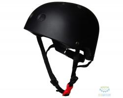 Шлем детский Kiddimoto чёрный матовый, размер S 48-53см