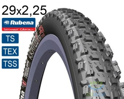 Покрышка 29x2.25 (57x622) MITAS (RUBENA) KRATOS TD V98 Tubeless Supra TEXTRA черная