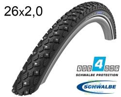 Покрышка 26x2.00 (50x559) Schwalbe MARATHON WINTER HS396 RaceGuard B/B+RT (200 Studs) WiC 67EPI