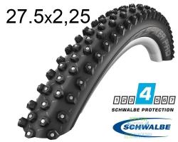 Покрышка 27.5x2.25 (57-584) Schwalbe ICE SPIKER PRO Perfomance HS379, RaceGuard, 378 шипов, B/B-SK WiC 67 EPI