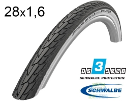 Покрышка 28x1.60 700x40C Schwalbe ROAD CRUISER K-Guard TwinSkin B/W+RT HS484 GREEN, 50EPI