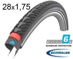 Покрышка 28x1.75 (47-622) Schwalbe MARATHON GT TOUR Perf DualGuard TwinSkin B/B+RT HS485 EC, 67EPI 33B