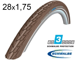 Покрышка 28x1.75 (47-622) Schwalbe ROAD CRUISER K-Guard TwinSkin CO/CO+RT HS484 SBC, 50EPI
