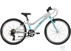 Велосипед 24 Apollo NEO 7s girls Brushed Alloy/Sky Blue/Charcoal 2020