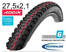 Покрышка 27.5x2.10 650B (54-584) Schwalbe RACING RALPH SnakeSkin TL-Easy Evolution Folding B/B-SK HS425 Addix Speed, 67EPI EK