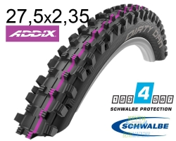 Покрышка 27.5x2.35 650B (60-584) Schwalbe DIRTY DAN Downhill Evolution B/B-SK HS417 Addix U-Soft 2x67EPI