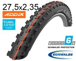 Покрышка 27.5x2.35 650B (60-584) Schwalbe FAT ALBERT FRONT SnakeSkin TL-Easy Evolution Folding B/B-SK HS477 Addix Soft, 67EPI EK