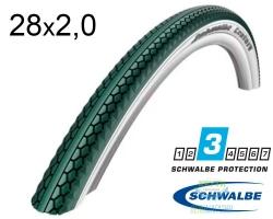 Покрышка 28x2.00 (50-622) Schwalbe CENTURY GN/W+BBS+RT HS458 SBC, 50EPI