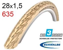 Покрышка 28x1 1/2 700x38B (40-635) Schwalbe DELTA CRUISER HS392 K-Guard C/C+RT SBC, 50EPI