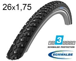 Покрышка 26x1.75 (47-559) Schwalbe WINTER K-Guard B/B+RT HS396 (100 Studs) WiC, 50EPI