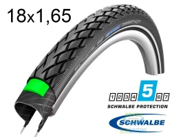 Покрышка 18x1.65 (44-355) Schwalbe MARATHON G-Guard Performance B/B+RT HS420 EC, 67EPI