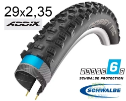 Покрышка 29x2.35 (60-622) Schwalbe NOBBY NIC Performance DD Folding B/B-SK HS463 Addix, 67EPI 35B EK