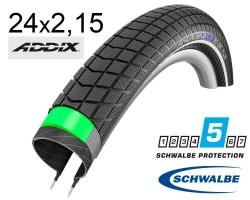 Покрышка 24x2.15 (55-507) Schwalbe BIG BEN PLUS G-Guard SnakeSkin Performance B/B-SK+RT HS439 EC, 67EPI 26B