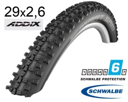 Покрышка 29x2.60 (65-622) Schwalbe SMART SAM Performance, DD, RaceGuard, Folding B/B HS476 ADDIX 67EPI B