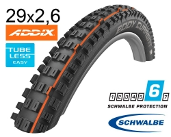Покрышка 29x2.60  (65-622) Schwalbe EDDY CURRENT FRONT Super Gravity, Evolution TLE B/B-SK HS496 Addix Soft 67EPI