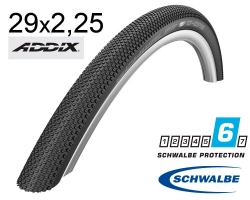 Покрышка 29x2.25 (57-622) Schwalbe G-ONE ALLROUND DD, RaceGuard, Folding B/B-SK+RT HS473 ADDIX 67EPI