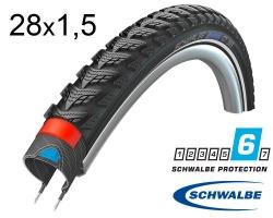 Покрышка 28x1.50 700x38C (40-622) Schwalbe MARATHON GT 365 DualGuard B/B+RT HS475 FS 67EPI 28B